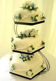 square wedding cake stand ideas striking wood