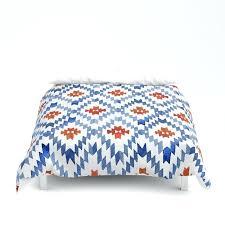 blue rhombus duvet cover ikat light