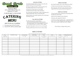 Free Catering Menu Templates For Microsoft Word Catering Menu Template Free Agarvain Org