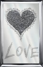 love cer heart mirror storm silver glitter