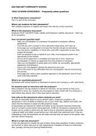 Questions To Ask On Work Experience Faq Saltash Net Community School