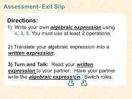 algebraic expressions 16 sment