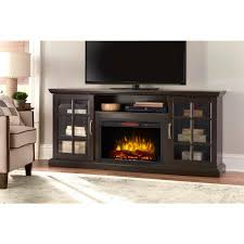 home decorators collection edenfield 70 in freestanding infrared electric fireplace tv stand in espresso