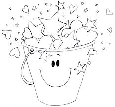 Small Picture Bucket Filler Coloring Page qlyviewcom