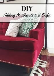 Decorative Nail Heads Adding Decorative Nailheads To A Sofa Domicile 37