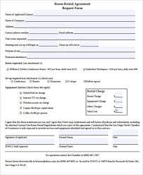 Room Rental Contract Interesting 44 Rental Agreement Form Samples Sample Templates
