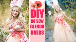 diy glenda no sew costume easy good witch dress