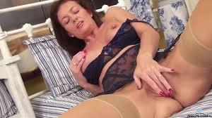 Mature slut Lucy Heart fingering her pierced pussy PornDoe