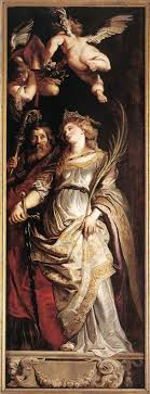 sts eligius and catherine peter paul rubens 1610 style baroque genre religious painting technique