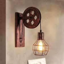 Industrial Light Shade E27 Vintage Retro Vintage Light Shade Ceiling Lifting Pulley Industrial Wall Lamp Fixture