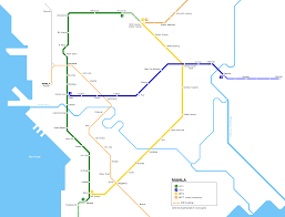 San Jose Light Rail Map Urbanrail Net Asia Philippinges Manila Lrt Metro