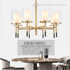 copper pendant lamp contemporary design plating led metal glass chandelier