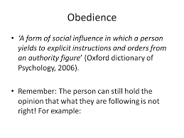 unit obedience and conformity ppt video online  obedience