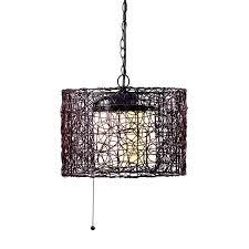 kenroy home tanglewood black single modern contemporary white glass drum pendant