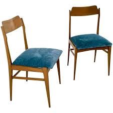 vintage velvet chair. Wonderful Velvet Pair Of Teak And Vintage Velvet Chairs Italy 1950s For Sale On Chair