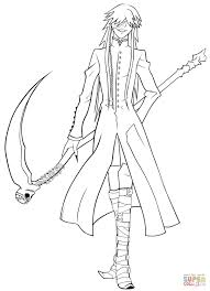 undertaker grim reaper coloring page free printable and black butler pages best of black butler coloring