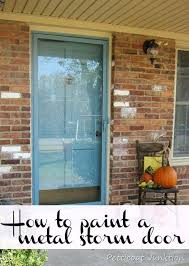 how to paint an aluminum door painted metal storm door paint aluminum garage door to look like wood