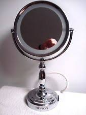vtg lightup magniflying makeup mirror revlon 2 sided touch on and off w outlet