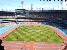 commonwealth games  athletics at the melbourne cricket ground mcg during the 2006 commonwealth games melbourne