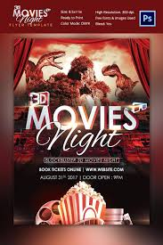 Free Movie Night Flyer Templates Movie Night Poster Template Jaxos Co