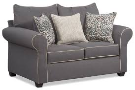 carla queen memory foam sleeper sofa loveseat and accent chair set gray by factory outlet
