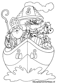 Pakjesboot Sinterklaas Kleurplaat Sinterklaas Printen Kleurplaten
