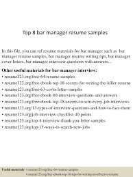 Bar Manager Resume Top224barmanagerresumesamples15024224224222401conversiongate224thumbnail24jpgcb=1242922460529 22