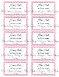 diaper raffle tickets printable anuvrat info printable pink flower diaper raffle tickets great for baby showers