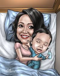 great gift for a first mother s day unique and personal caricature gift for mom mothersday