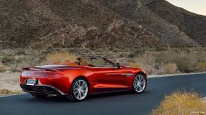 2014 aston martin vanquish wallpaper. 2014 aston martin vanquish volante red ember rear wallpaper