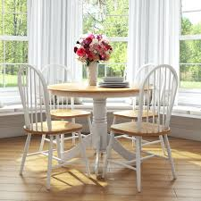 Round Kitchen Table And Chairs Set Farmhouse Sets Style Dining Cute