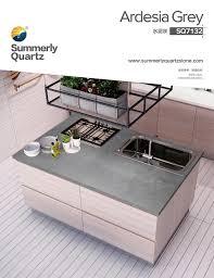 China Grey Quartz Kitchen Worktops Manufacturers And Factory