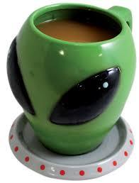ufo wisconsin alien head coffee mug gift idea