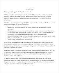 E-Commerce Photographer Job Description