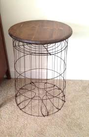 wire basket table vintage metal wire laundry basket table wire basket table diy wire basket table