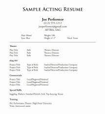 Actors Resume New Musical Theatre Resume Template Luxury Actors Resume Format New