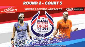 LIVE SQUASH: British Open 2021 - Court ...