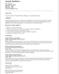 Public Relation Director Resume Public Relation Manager Resume Sample Pr Samples Across