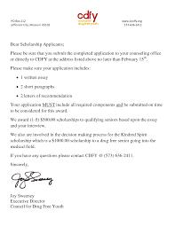 Sample Scholarship Cover Letter Resume Template Pinterest
