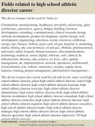 ... 16. Fields related to high school athletic director ...