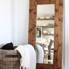 rustic wood furniture ideas. Mirror (thrift Store) + Fence Picket Boards Flooring Underlayment Stain And Wax Nails Wood Glue Cutting Equipment Rustic Furniture Ideas T