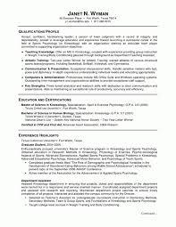 Resume Sample Graduate Student