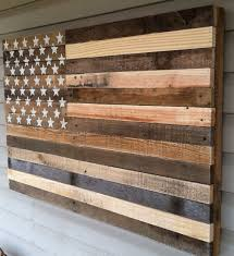 interior reclaimed wooden american flag wall art home decorations wooden canvas strips white stars exterior