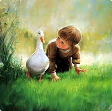 angel baby painting painting child with duck