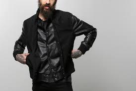 men s black sleeve varsity jacket