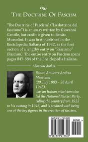 the doctrine of fascism amazon co uk benito mussolini the doctrine of fascism amazon co uk benito mussolini 9781479216345 books