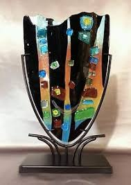 Art Glass Display Stands 100 best Glass metal frames images on Pinterest Fused glass 22