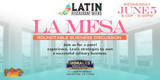 latin restaurant weeks la mesa business panel at mes radio hall