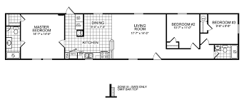 3 Bedroom Mobile Home Floor Plan Manufactured Home And