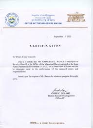 10 Best Images Of Certification Of Employment Certificate Sample